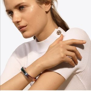 NWT Tory Burch for Fitbit Metal Hinged Bracelet